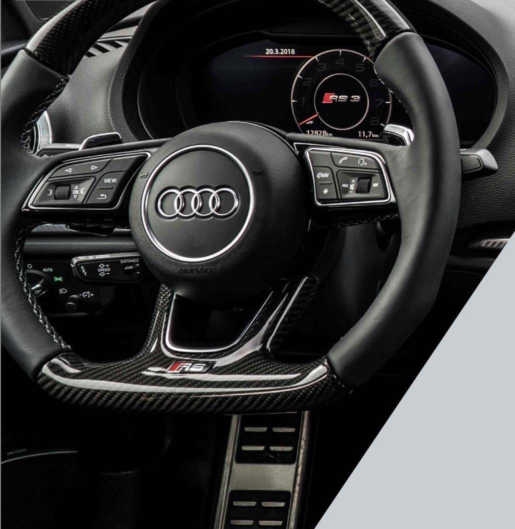 Audi A3/S3/RS3 8V carbon steering wheel - facelift