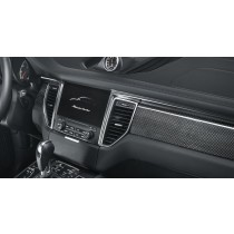 Porsche Macan carbon dash board trims - alu
